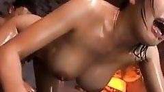 oiled eastern babe satisfies dick-holders