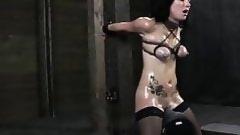 broking thin dark brown doll