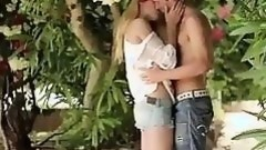 Izzy gets passionate outdoor sex