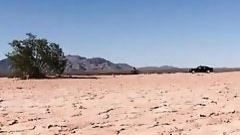 pornstar sucks cock in the desert