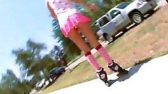 Roller Gal Gets Banged in her skates!