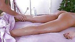 Hard boner at the same time as massage