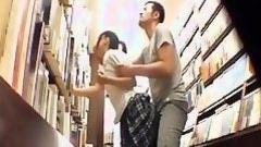 pervert in book store fucks cute japanese youthful