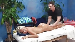 Impressive masseur shoves entrance and vagina of hottie by corpulent wand
