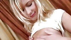 Enormous huge strapon of gorgeous stud shoves anal fissure of this spectacular legal age teenager golden-haired hotty