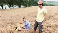 twinks fucks in the middle of the field