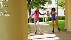 lesbians get naked after roller skating