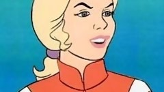 golden-haired girl sucks brown penis in sealab