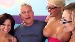 one auspicious dick gains three hot whores