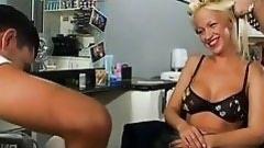 untamed blonde geting shaved