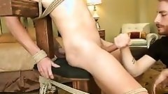 tied and pleasured by two guys
