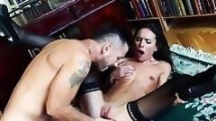 skinny brunette getting fucked from behind