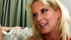 Blonde Sexpot Rides Her Stepsons Big Cock